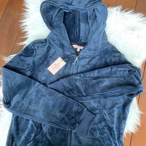NWT Juicy Couture ultra soft velour hoodie jacket